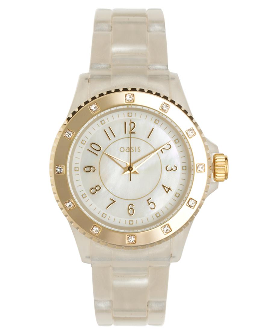 белые наручные часы женские Oasis в магазине стильной одежды. белые наручные часы женские